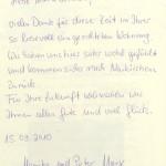 Appartement Wildkogel - Gästebuch-Eintrag