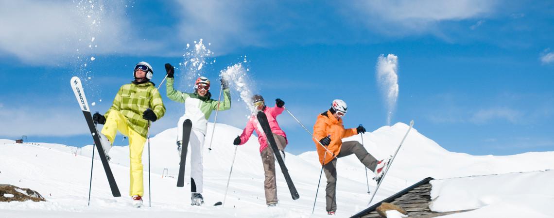 Ski fahren am Wildkogel