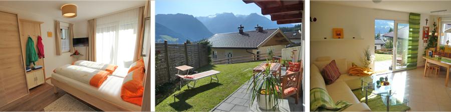 Schlafzimmer / Terrasse / Wohn- und Esszimmer